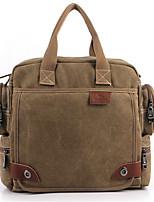 Men-Casual-Canvas-Shoulder Bag-Gray / Black / Khaki