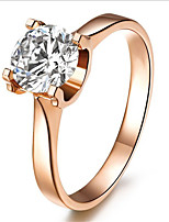 Real Silver Solitaire Engagement Ring for Women 1CT 18K Rose Gold Plated SONA Diamond Jewelry Female Sterling Silver 925