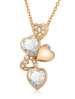 Necklace Pendant Necklaces Jewelry Gold Plated Wedding / Party / Daily / Casual Gold Heart 1pc Gift