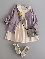 Girl's Casual/Daily Patchwork Suit & Blazer,Cotton Summer Blue / Purple