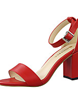 Women's Sandals Summer Sandals PU Casual Chunky Heel Others Black / Red / White / Gray / Almond / Camel Others