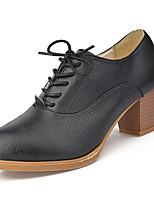 Homme-Décontracté-Noir / Blanc / Beige-Gros Talon-Talons-Chaussures à Talons-Polyuréthane