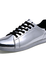 Men's Shoes Patent Leather Casual Sneakers Casual Sneaker Flat Heel Others Silver