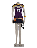 Ispirato da Fairy Tail Lucy Heartfilia anime Costumi Cosplay Abiti Cosplay Monocolore Top / Gonna / Guanti lunghi