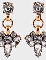 Bohemian Fashion Transparent Crystal Bridal Accessories Earrings