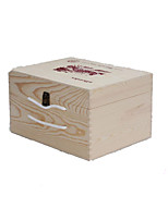 Packaging Gift boxes, Log Color, Solid Wood Double, Wooden Wine Boxes, Can Be Customized