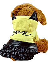 Chat / Chien Costume Incanardin / Jaune Hiver / Printemps/Automne Animal Cosplay / Halloween, Dog Clothes / Dog Clothing-Other