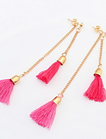 Contracted Fashion Tassel Wool Long Paragraph Earrings Earrings Ladies Earrings Nightclub