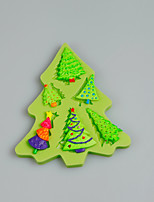 Mini Christmas Tree Silicone Mold Fondant Cake Decorating Tools for Chocolate Cupcake Candy Polymer Clay Accessories