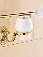 Ti-PVD Wall Mounted Brass Material Toilet Brush Holder