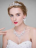 Women's Alloy Headpiece-Wedding Tiaras 3 Pieces