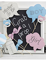 Hard Card Paper Wedding Decorations-10Piece/Set Unique Baby Shower Photo Booth Props Party