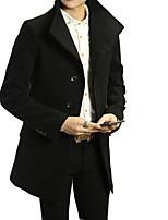 Korean winter suit collar wool coat's British style in the long woolen coat jacket