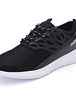Men's Shoes PU / Tulle Casual Sneakers Casual Walking Flat Heel Others Black / White / Gray / Khaki