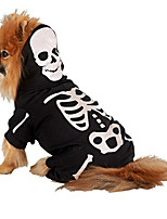 Cat / Dog Costume / Clothes/Jumpsuit Black Winter / Spring/Fall Skulls Halloween, Dog Clothes / Dog Clothing