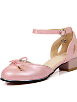 Women's Sandals Spring / Summer / Fall Mary Jane / Comfort PU Dress / Casual Chunky Heel Bowknot / Buckle / Lace-upBlack / Pink / Red /
