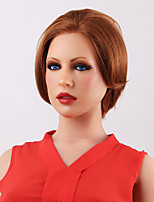 Chic Impressive Short Straight Wig  Front Human Hair