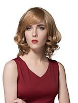 elegante del pelo humano corto esponjoso para las mujeres en capas de moda pelucas del estilo europeo