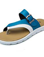 Zapatos de Hombre-Sandalias-Exterior / Deporte-Semicuero-Negro / Azul / Marrón