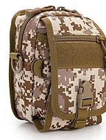20 L Shoulder Bag Camping & Hiking Outdoor Multifunctional Brown / Camouflage Canvas Other