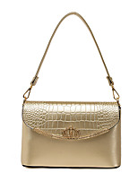 Women-Formal / Casual / Office & Career / Shopping-PU-Shoulder Bag-White / Pink / Gold / Black / Burgundy