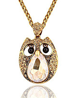 Dazzle Personality Owl Shape Necklaces Sweater Chain