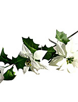Silk / PU Poinsettia Artificial Flowers