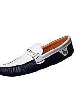 Men's Shoes PU Casual Loafers & Slip-Ons Casual Walking Flat Heel Others Black / Blue / White