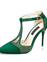 Women's Shoes AmiGirl 2016 New Style Party/Wedding/Dress Black/Green/Red/Almond Sexy Stiletto Heels
