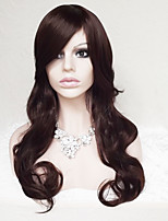 Ms Points in 28 Inch Dark Brown Curly Hair Wig
