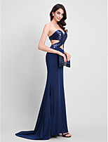 TS Couture® Formal Evening Dress Trumpet / Mermaid Sweetheart Sweep / Brush Train Sequined / Jersey with Sequins