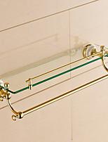 Cesta de Ducha / Gadget para Baño / Ti-PVD / Montura en Pared /20.5*4.2*5.9 inch /Latón /Contemporáneo /52cm 12cm 2.136KG