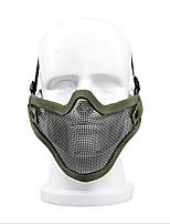 zl-v1 con muchos equipos al aire libre de equipos de defensa propia mitad protector de alambre campo cara exterior máscara protectora