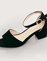 Women's Sandals Summer Styles / Open Toe Cowhide Casual / Dress Low Heel Others Black / Red / Beige