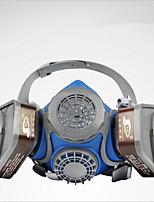 st-m60 cabeza máscara de gas doble cartucho de filtro que lleva polvo de tipo gel de sílice y la máscara de protección de pintura de
