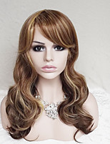 Europe And The United States With Ms Brown Mixture Color 26 Inch Long Hair Wig