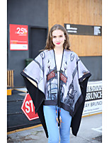 Women Polyester Scarf,Vintage / Casual