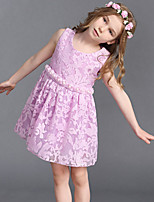 Girl's Cotton Summer Fashion Embroider Sleeveless Princess Dress