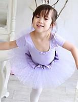 Ballet Outfits Children's Performance Tulle / Lycra Paillettes 1 Piece Blue Ballet Short Sleeve Natural Dress