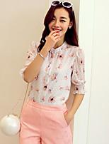 Wake Up® Women's Round Neck 1/2 Length Sleeve Shirt & Blouse White-XFS16117