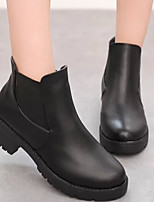 Women's Shoes PU Fall / Winter Combat Boots Boots Casual Chunky Heel Others Black