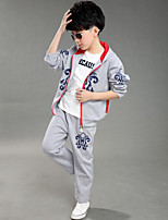 Boy's Casual/Daily Print Clothing Set,Cotton Spring / Fall Blue / Red / Gray