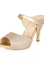 Women's Shoes Summer Peep Toe / Slingback Sandals Dress / Casual Cone Heel Slip-on White / Gold