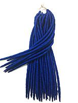 Blau Havanna / Gehäkelt Dread Locks Haarverlängerungen 14 18 inch Kanekalon 24 Strand 115-125 Gramm Haar Borten
