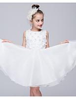 Vestido Chica de-Fiesta/Cóctel-Un Color-Poliéster-Verano-Blanco
