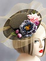 Women's Lace / Fabric / Net Headpiece-Wedding / Special Occasion Fascinators 1 Piece