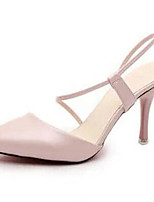 Women's Shoes Stiletto Heel Pointed Toe Heels Dress / Casual Pink / White