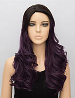 Cosplay European and American Fashion 1B/Purple Curly Medium Wigs Cosplay  Synthetic Wigs