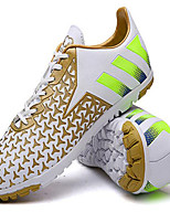 Men's Shoes PVC Sneakers Soccer Lace-up Blue / Green / White / Gold / Orange