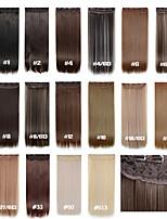 Clip em extensões de cabelo 120g 24inch 60 centímetros 5clips cabelo sintético longa extensão de cabelo sintético em linha reta 16 cores